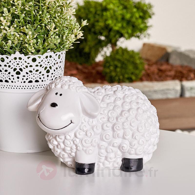 Adorable lampe décorative solaire LED Mouton - Lampes solaires décoratives