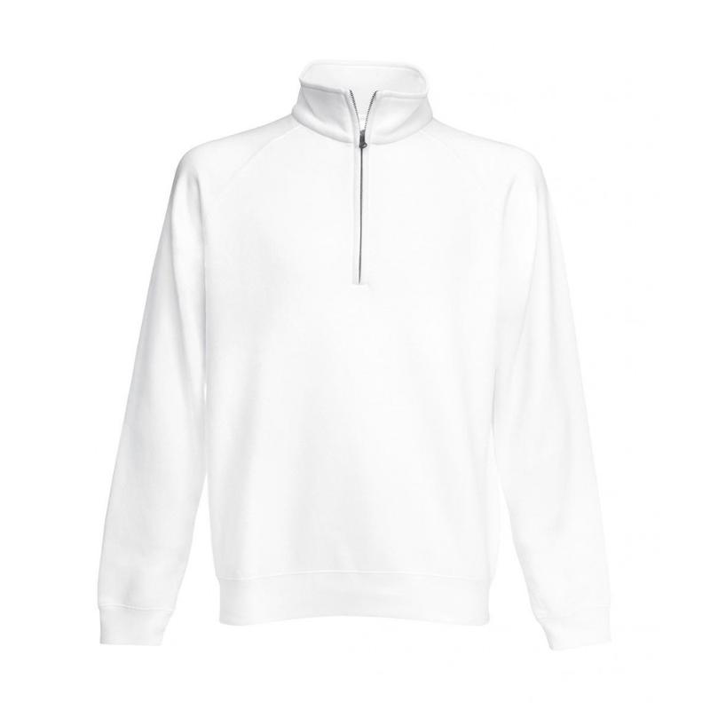 Sweat shirt zip manches raglan - Sans capuche