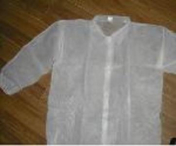 Bata de laboratorio no tejida desechable - Color: azul, blanco, verde, amarillo Material: material no tejido de los PP / pe