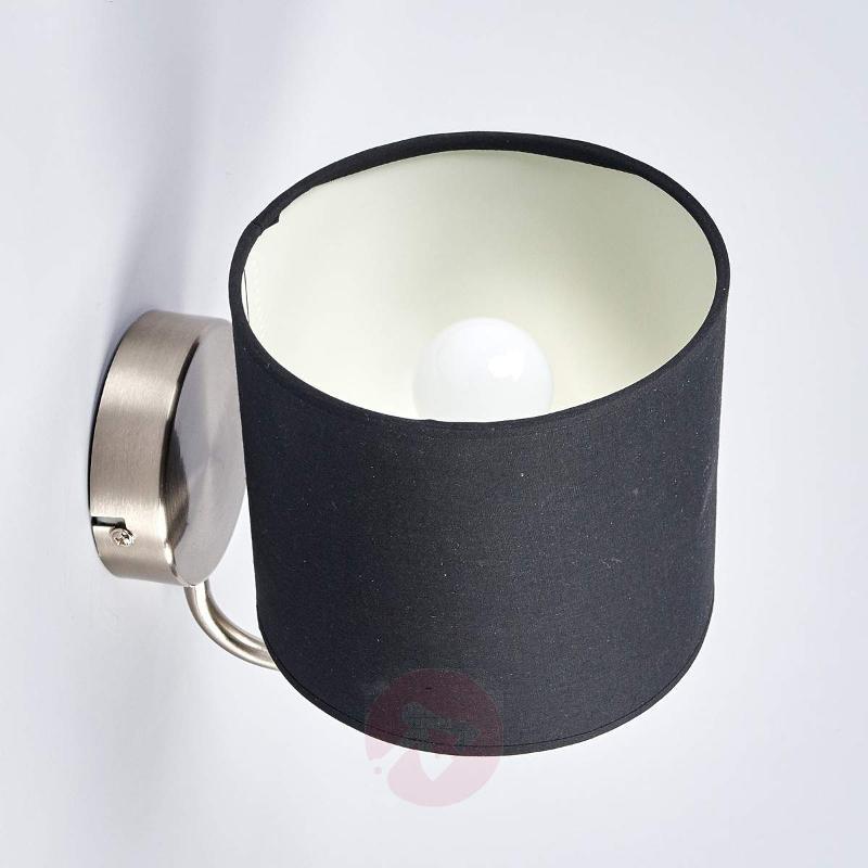Fabric wall light Enna with E14 LED lamp - Wall Lights