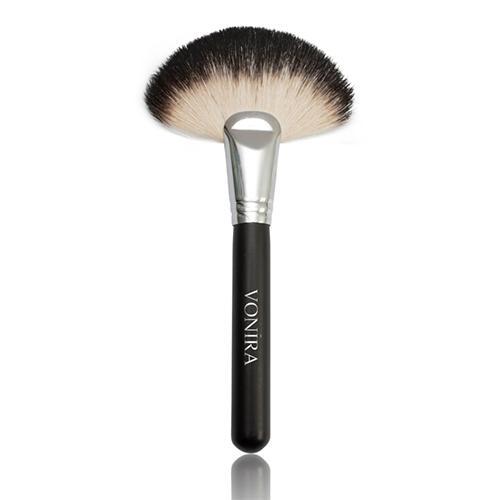 Brosse de maquillage de grand fan de cheveux de chèvre / bro - HV-010