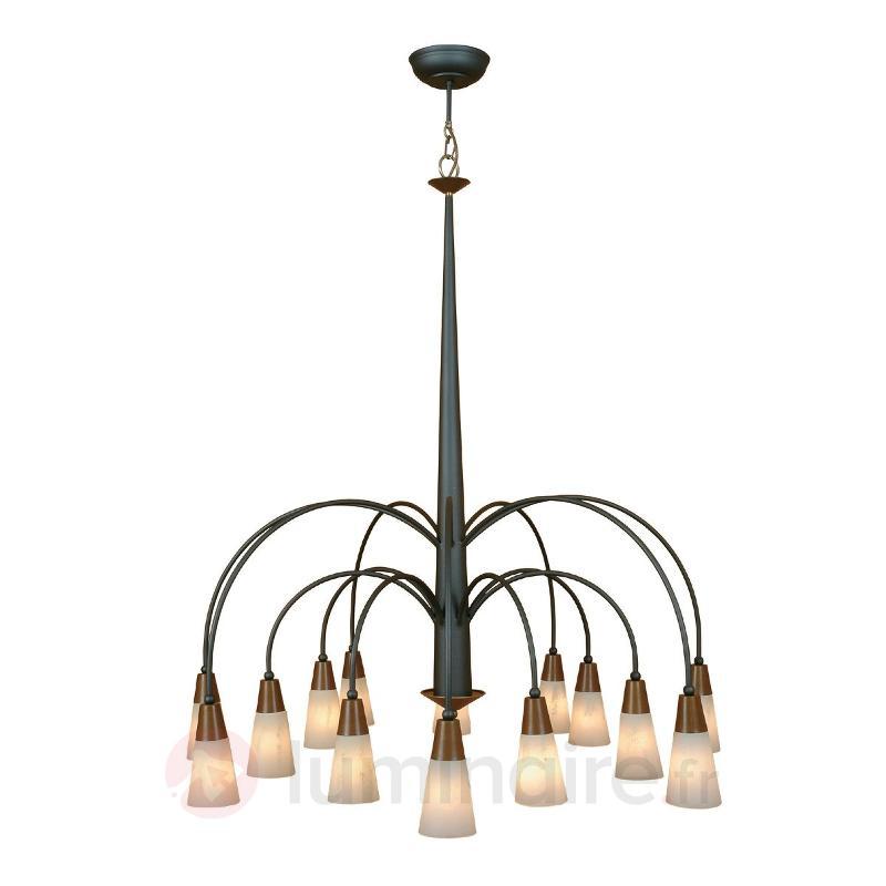 Imposante suspension STELLA à 14 lampes - Suspensions rustiques