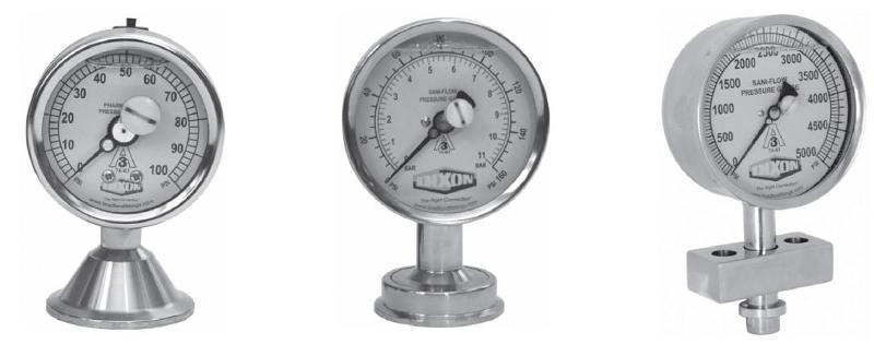 Hygienic pressure gauges - null