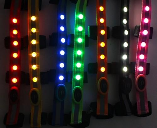 LED bridle light horse headband strip bright with battery - horse headband strip bright for safety horse riding