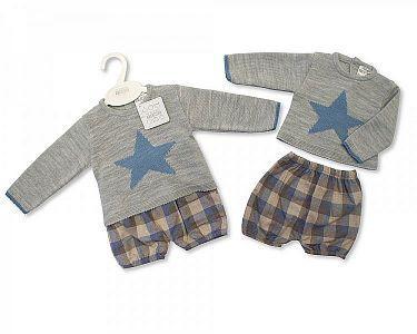 Spanish Style Knitted Baby Boys 2 Pcs Set -