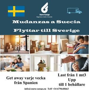 Mudanzas a Suecia - Desde España y otros países de la Unión Europea