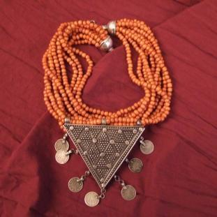 Colliers - Argent,perles de verre anciennes,Afghanistan