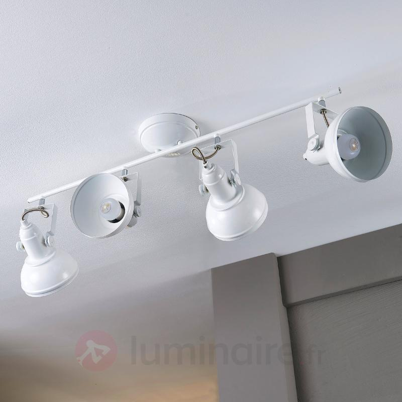 Lampe de cuisine LED Tameo avec abat-jour blancs - Cuisine et salle à manger