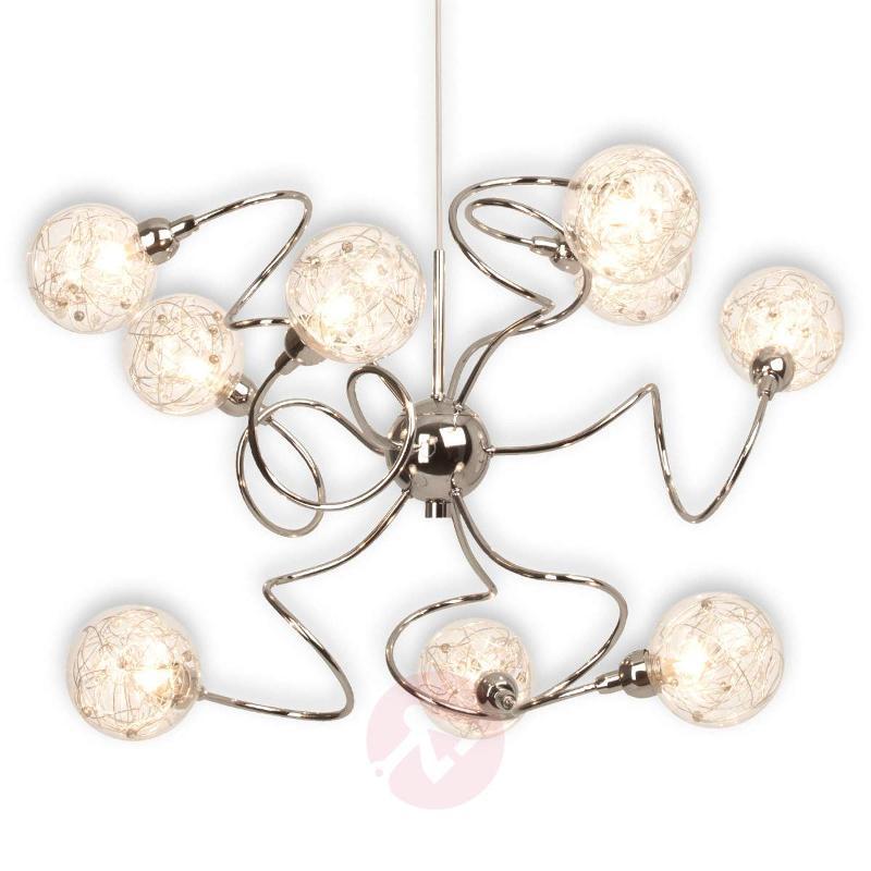 Joya - a 9-bulb hanging light - Pendant Lighting