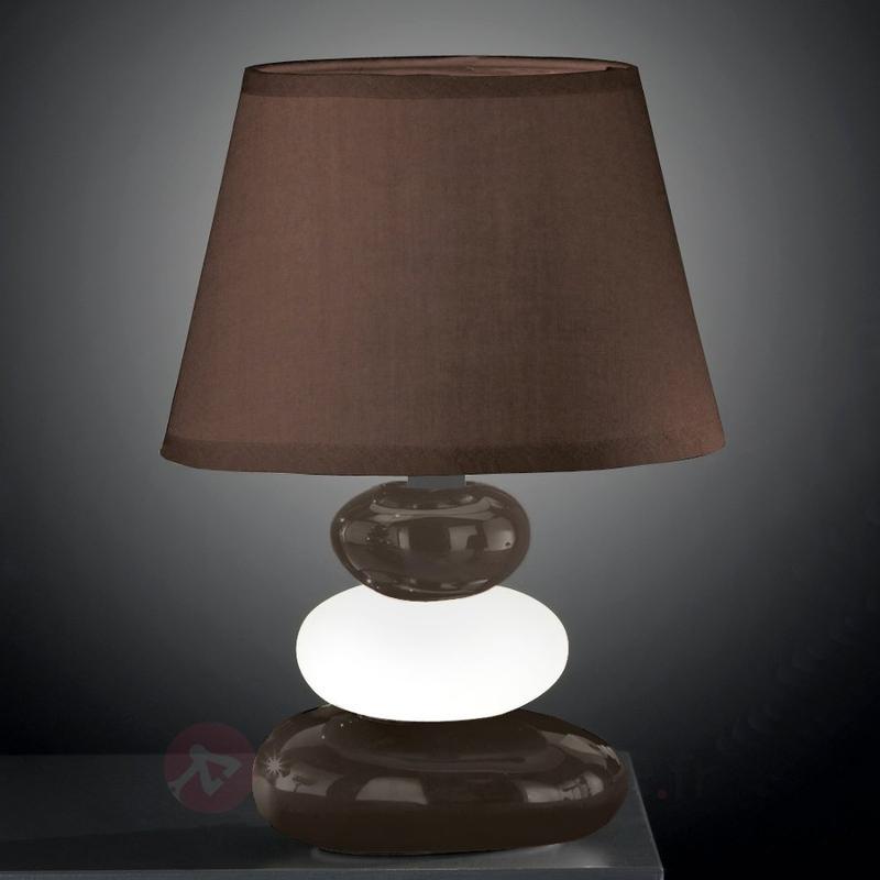 Lampe à poser Rocco Tres avec pied en céramique - Lampes de chevet