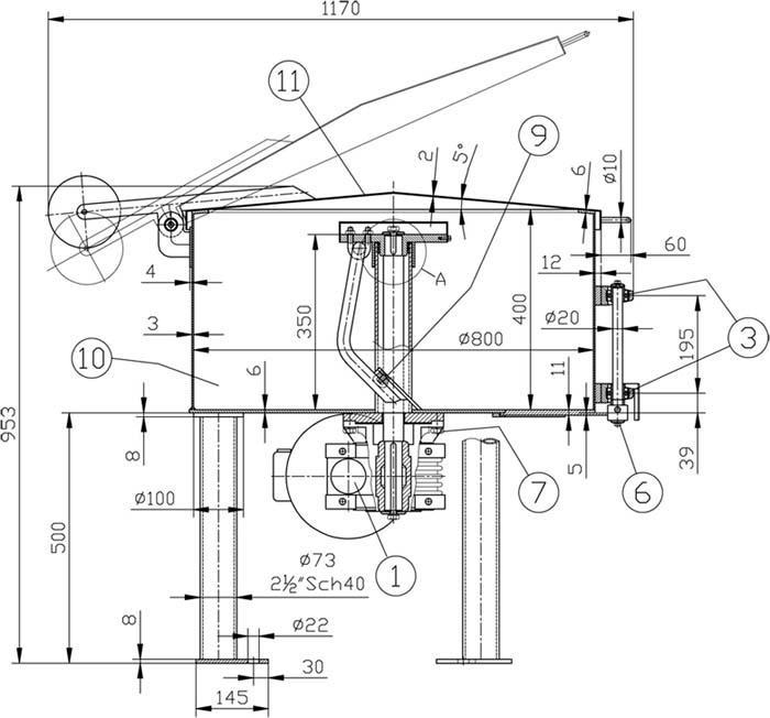 Mezclador de pastas - Ideal para masa de ladrillos.
