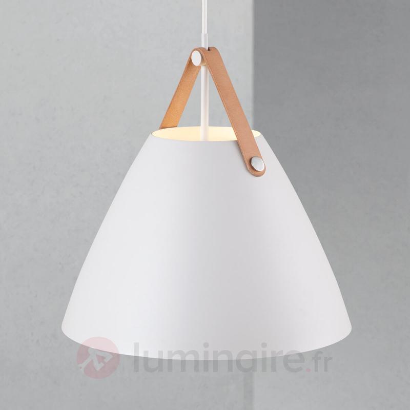 Suspension LED Strap 36 avec bride en cuir - Suspensions LED