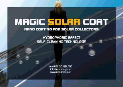 MAGIC SOLAR COAT - Self-cleaning Nano Coating for Solar Collectors
