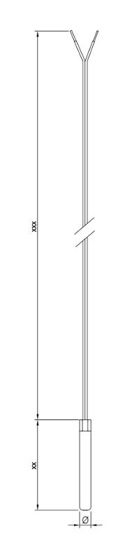Standard   Pt100 - Sheating tube resistance thermometer