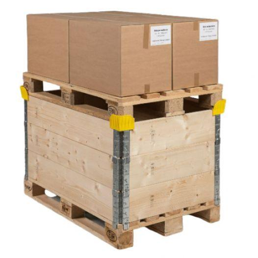 Stacking corners for pallet collars, yellow -