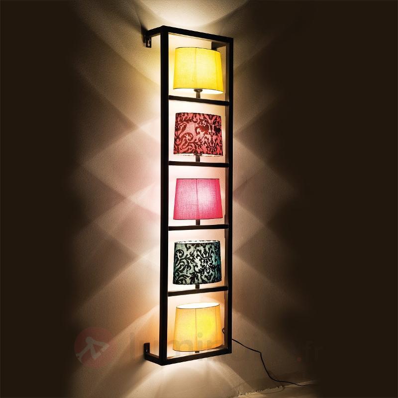 Applique encadrée de noir PARECCHI à 5 lampes - Appliques design