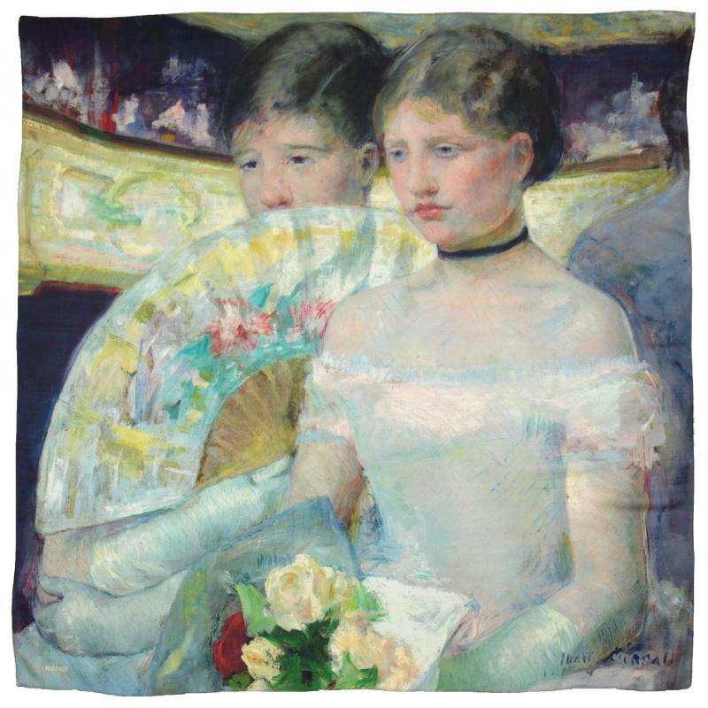 Châle En Laine Et Soie Imprimée Mary Cassatt La Loge - Pastel - LES GRANDS PEINTRES