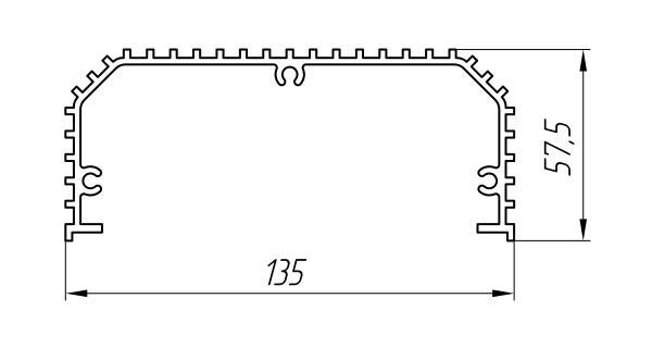 Aluminum Profile For Cooling Radiators Ат-1052 - Aluminum profile for cooling radiators