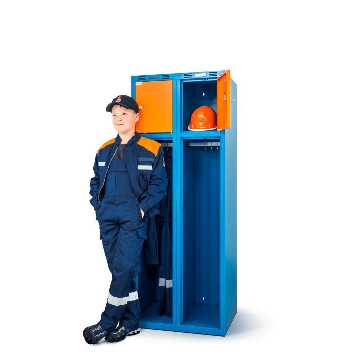 Vestiaire pompier JUNIOR - Un grand modèle pour les petits - avec 1, 2 ou 3 compartiments