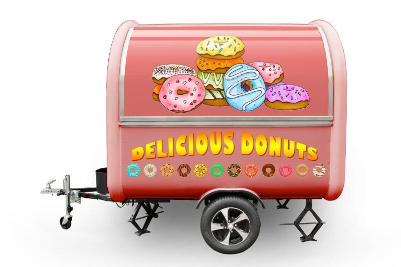Foodtruck Anhänder Buddystar Donuts - null
