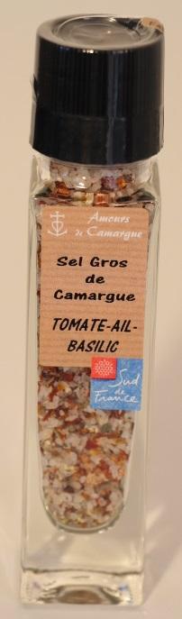 MOULIN RECHARGEABLE  - SEL GROS DE CAMARGUE - TOMATE,... - Epicerie salée