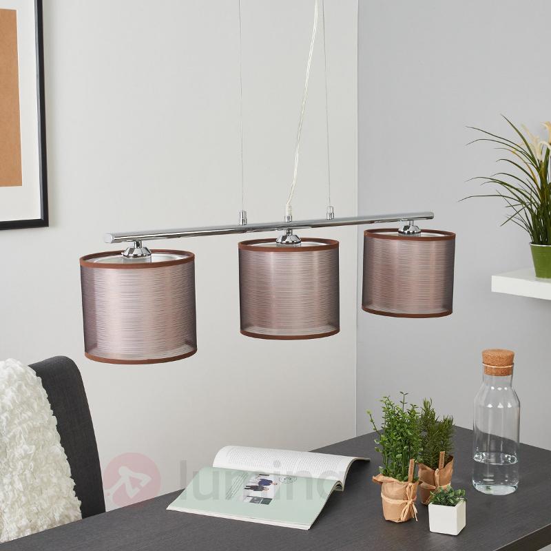 Suspension à 3 lampes Charis pour table à manger - Suspensions en tissu