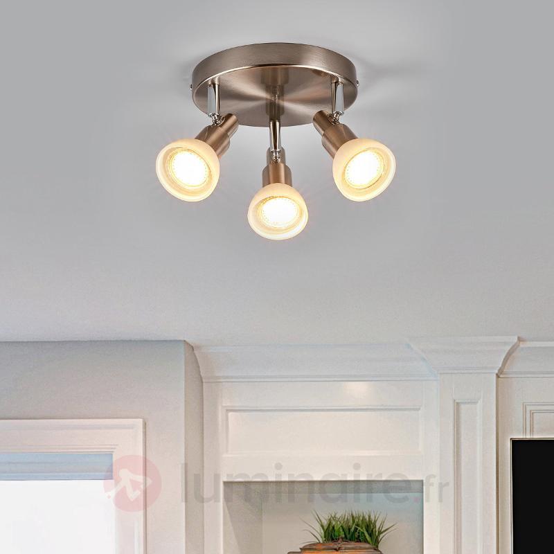 Plafonnier LED Fiona en verre et en métal - Spots et projecteurs LED