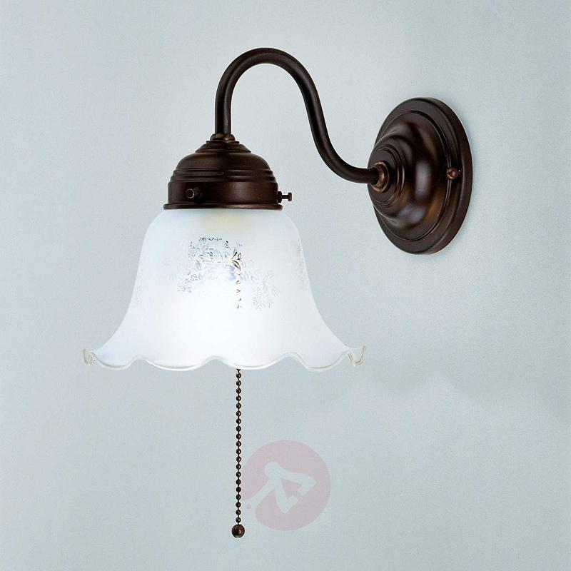 Gretchen wall light with antique mount - Wall Lights