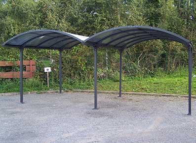 Double carport aluminium - null