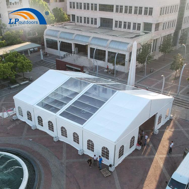 Carpa de fiesta para carpa exterior transparente transparent - Tienda de fiesta de 15 metros de LP OUTDOORS
