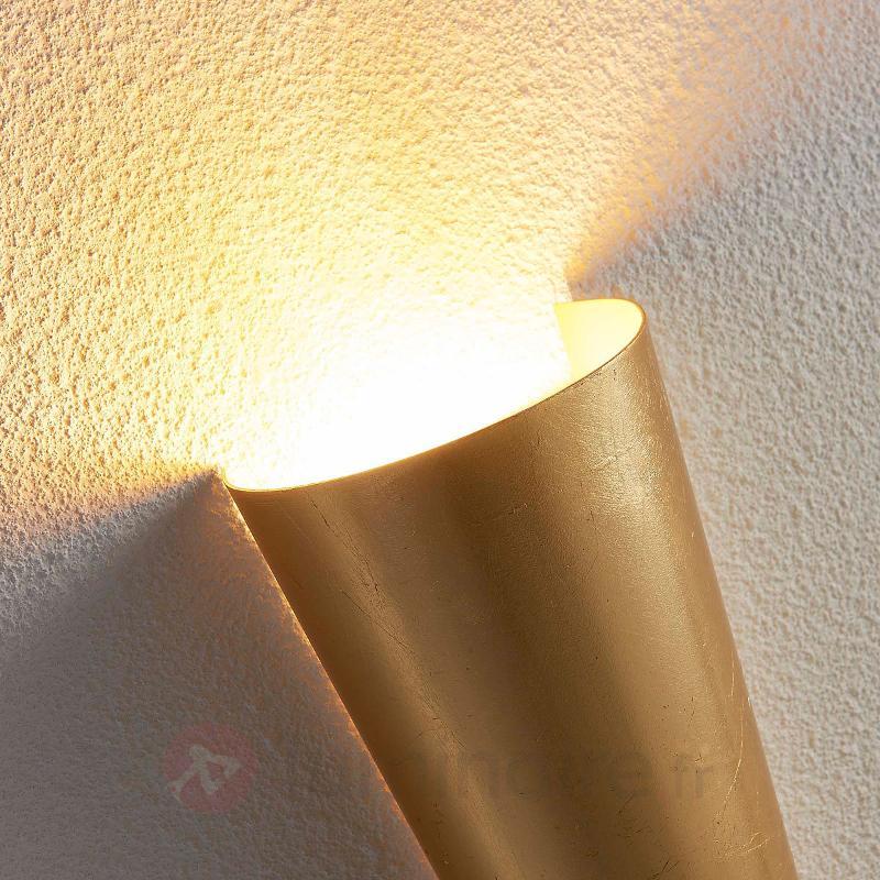 Applique LED aux jolies formes Conan doré - Appliques LED