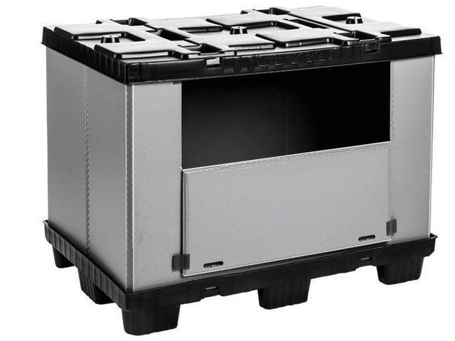 Large Folding Container: Mega-Pack 1200 - Large Folding Container: Mega-Pack 1200, 1200 x 800 x 900 mm