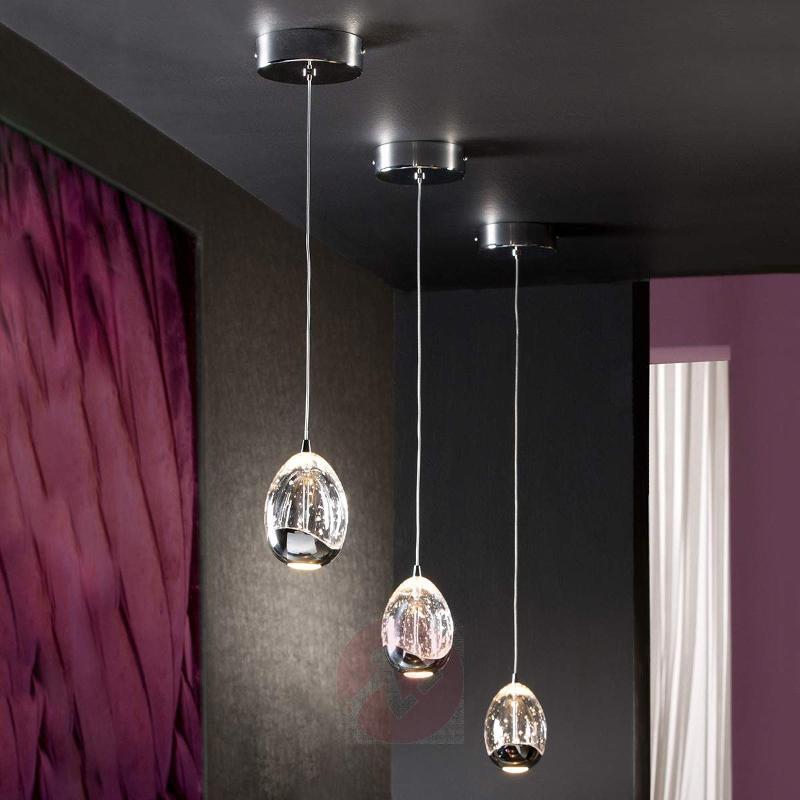 Single-light LED hanging light Rocio in chrome - Pendant Lighting