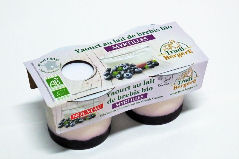 YAOURT AU LAIT DE BREBIS BIO MYRTILLE. (PACK 2 X 100 G) - Produits laitiers