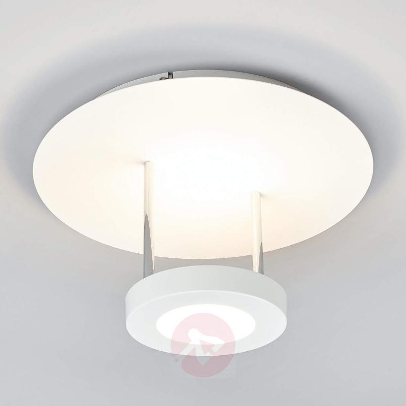 Round LED ceiling lamp Augusta in white - Ceiling Lights