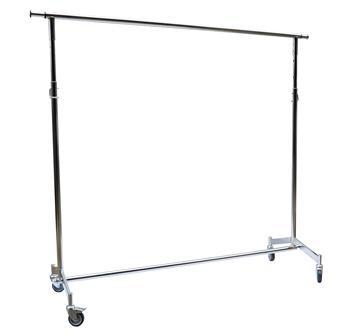 Perchero 1 barra 150 cms. Cromado - Graduable y Extensible.