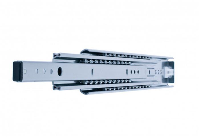 ITS 070 heavy-duty full extension slide 200 kg - 70 x 18 mm telescopic slide zinc electroplated steel length 250 - 1200 mm