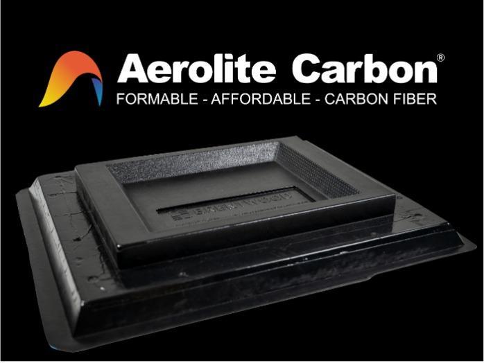 Aerolite Carbon: plaque thermoformable à fibres de carbone - polyoléfine chargé fibres de carbone pour thermoformage