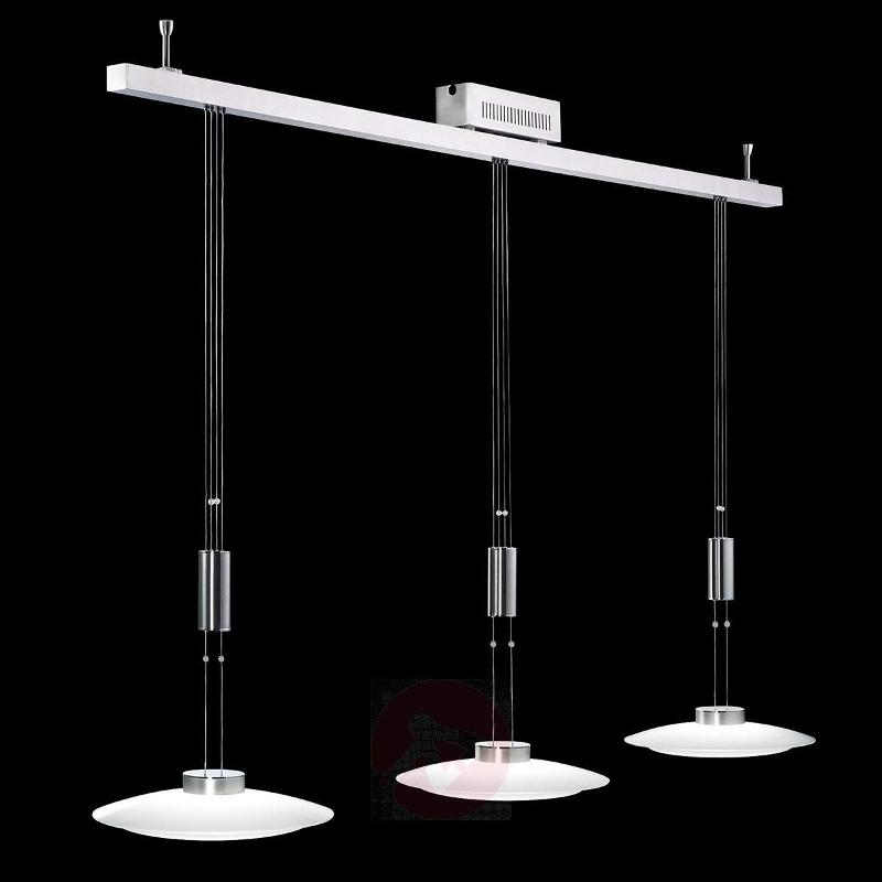Three-bulb hanging light Shine-LED glass - Pendant Lighting