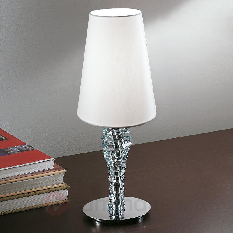 Petite lampe à poser Crystal blanc - Lampes à poser en tissu