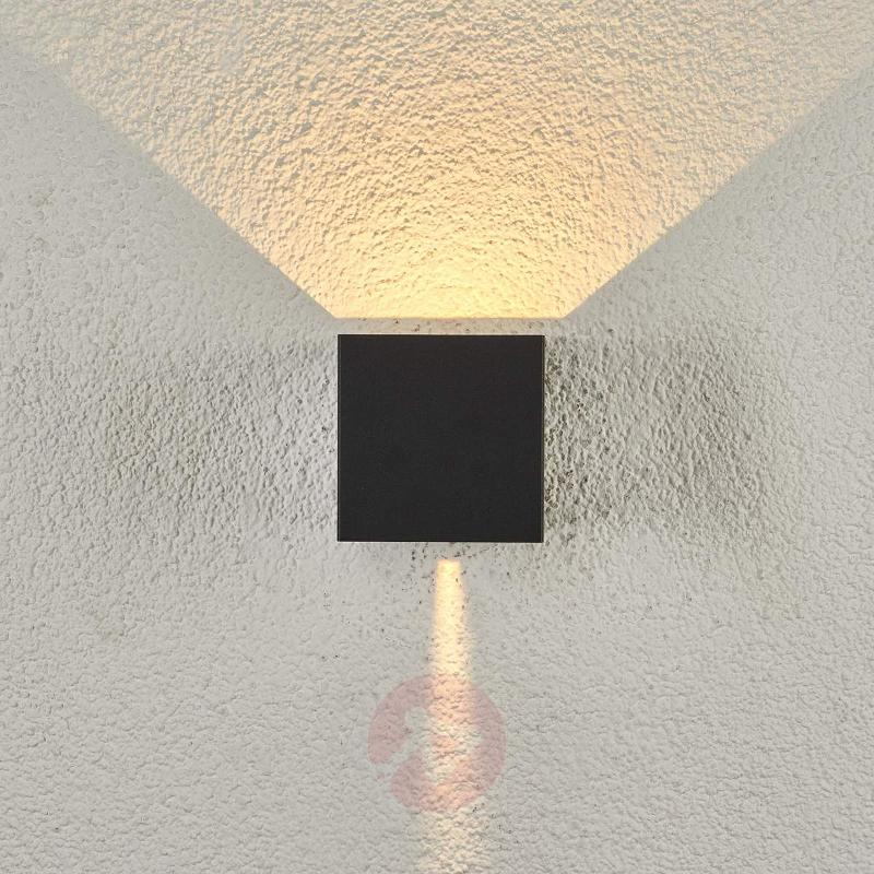 Cube-shaped Ella LED outdoor wall light - Outdoor Wall Lights