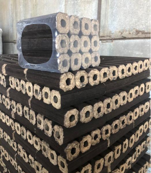 Древесный брикет Пини Кей 8-гранник - 100% дуб