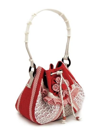 Decorated textile bag -