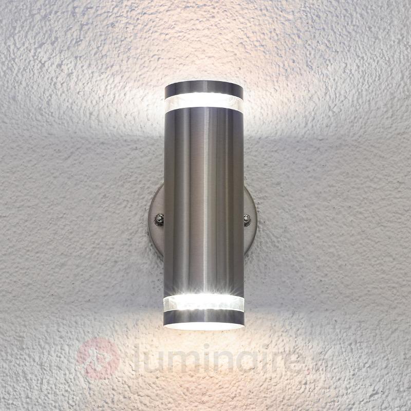 Applique d'extérieur LED Tiberius en inox - Appliques d'extérieur LED