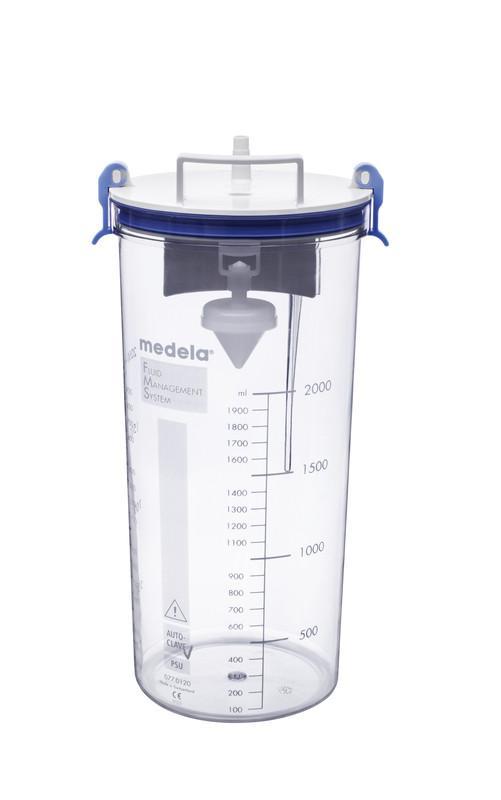 RCS (sistema de recogida reutilizable) de Medela - Recipientes y tapas aptos para su esterilización en autoclave.