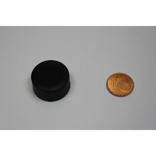 Neodymium disc magnet 22,0x10,4mm, N38, black rubber coated
