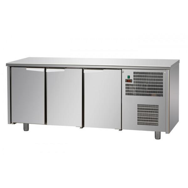 Tables réfrigérées 3 portes inox sans dosseret - Référence TF3SY60