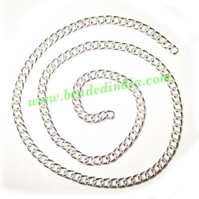 Silver Plated Metal Chain, size: 1x4mm, approx 26.7 meters i - Silver Plated Metal Chain, size: 1x4mm, approx 26.7 meters in a Kg.