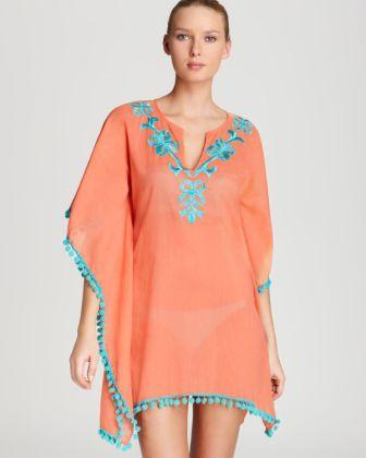 Kaftan with embroidery - 100% Cotton, Georgette, poly, Rayon Kaftan