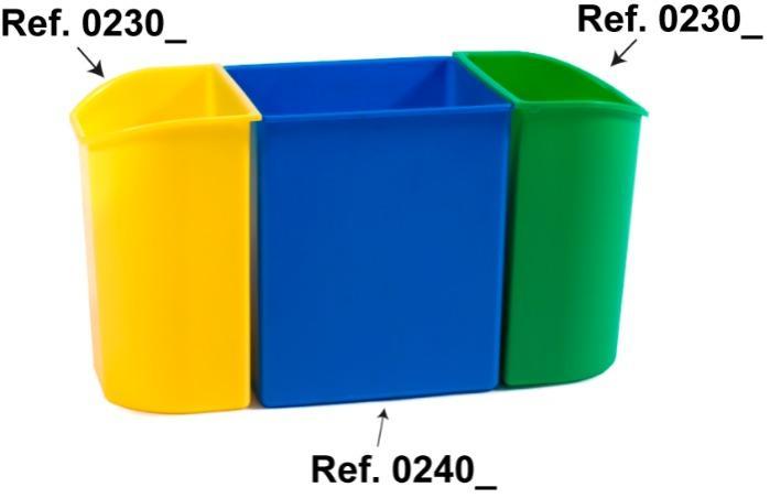 Papeleiras e caixotes para resíduos -